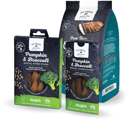 Go Native Grain Free Dog Food Healthy Treats and Dental Sticks for Dogs